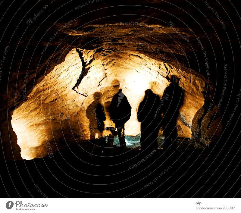 voyage au centre de la terre Natur Ferien & Urlaub & Reisen gelb dunkel Bergbau Menschengruppe Stein braun Umwelt Felsen Abenteuer Freizeit & Hobby entdecken