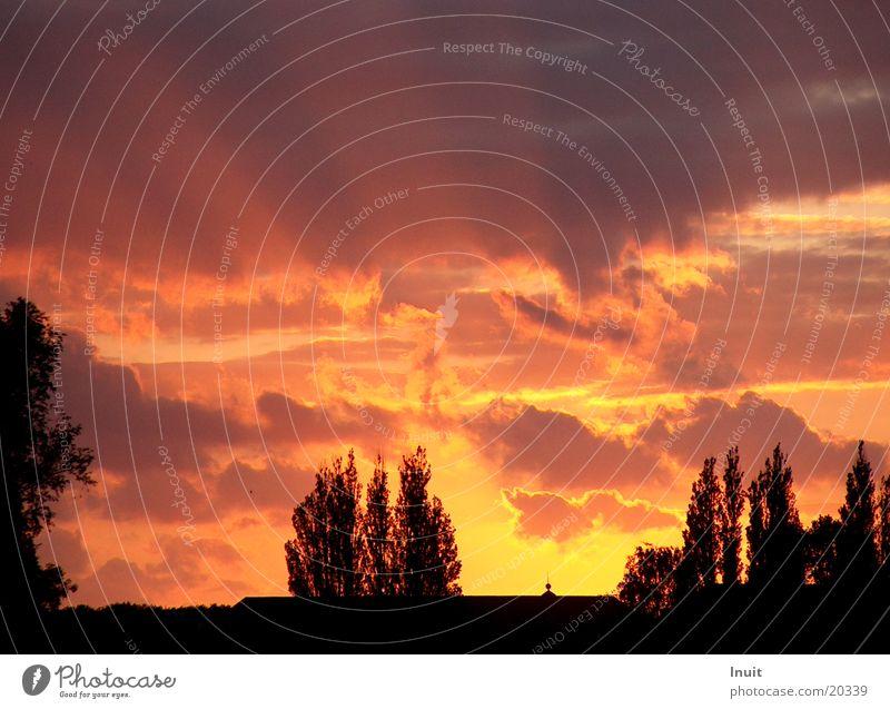 Abendstimmung Wolken Stimmung Abenddämmerung