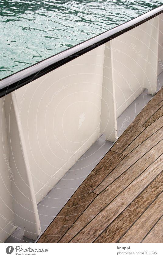 Kreuzfahrt Natur Wasser weiß blau Sommer Ferien & Urlaub & Reisen ruhig See Wasserfahrzeug braun Wellen Ausflug Schifffahrt Sommerurlaub Reling