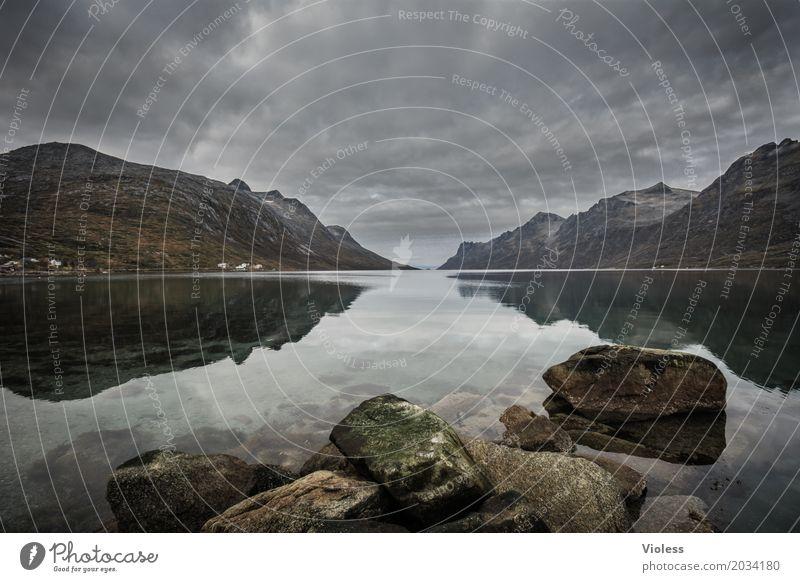 the rock Umwelt Natur Landschaft Himmel Gewitterwolken Herbst Wetter Unwetter Regen Berge u. Gebirge Schlucht Flussufer Nordsee atmen Erholung dunkel