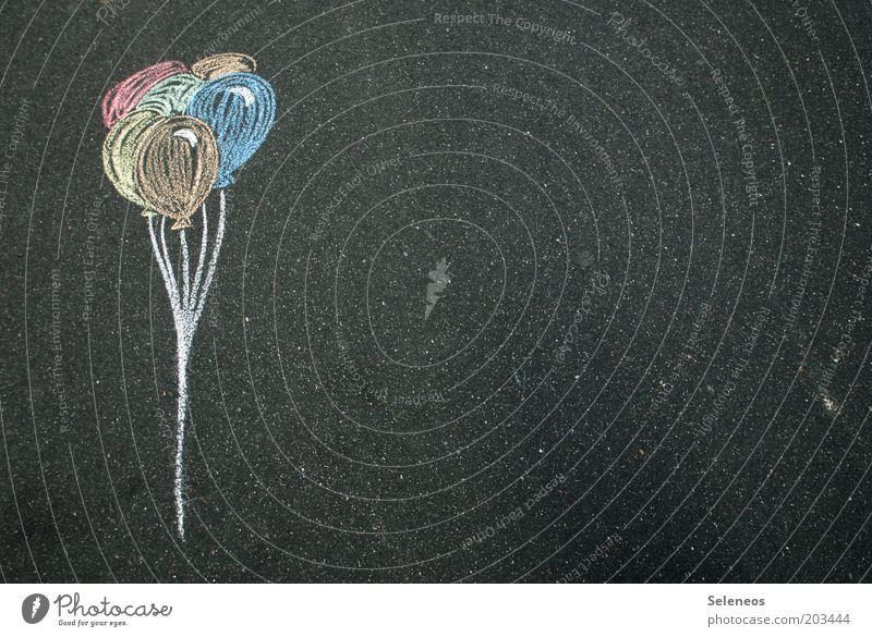 ich will auch fliegen Freizeit & Hobby Ausflug Sommer Straße Luftballon frei Strassenmalerei Kinderzeichnung Geburtstag Kindergeburtstag Feste & Feiern Farbfoto