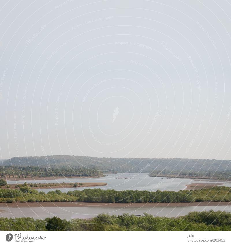 weit übers land... Natur Landschaft Wasser Himmel Baum Wald See Fluss Wildnis Indien Goa Unendlichkeit Freiheit Farbfoto Außenaufnahme Menschenleer