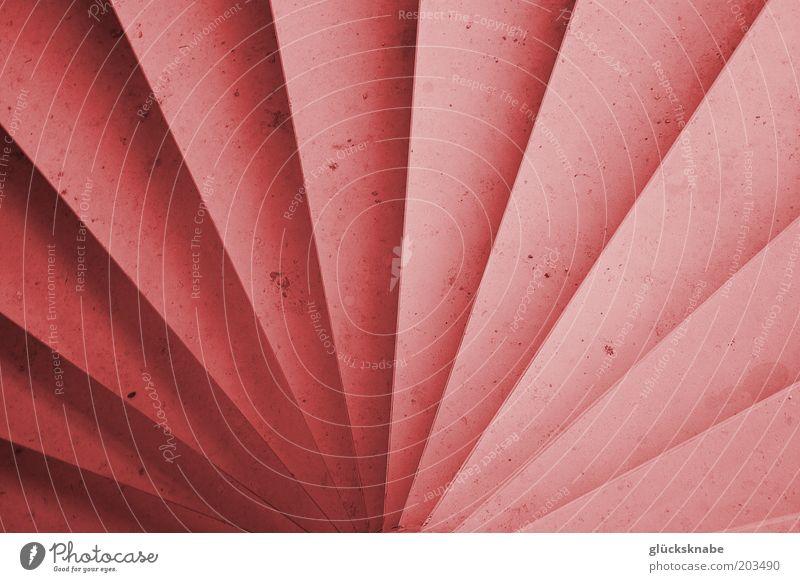 wendeltreppe rot Stein Linie rosa Treppe ästhetisch einzigartig Symmetrie Fächer abstrakt Vogelperspektive strahlenförmig