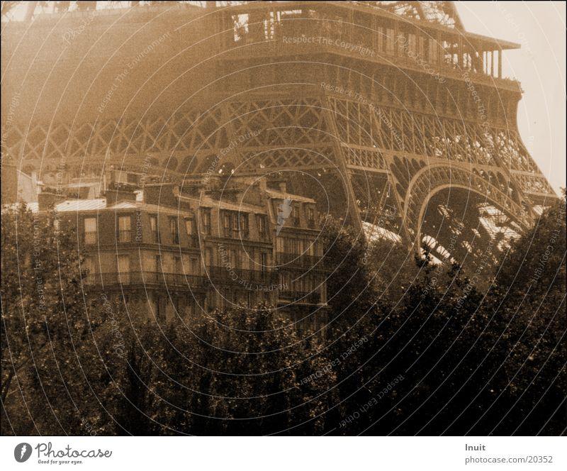 Eiffelturm alt Architektur Nebel Paris Sepia Frankreich