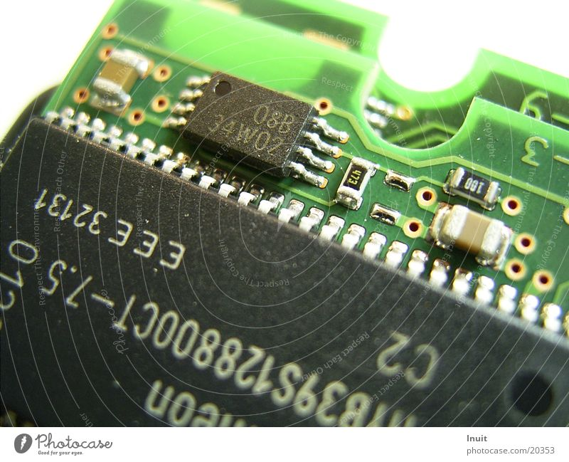 Mikrokosmos Mikrochip Datenträger Elektrisches Gerät Technik & Technologie Nahaufnahme Elektronik