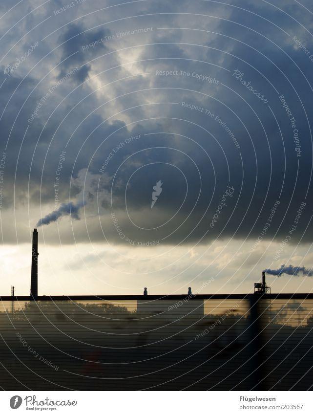 Yeah das 400. Himmel Wolken Arbeit & Erwerbstätigkeit dreckig Umwelt Industrie Macht Fabrik Baustelle Autobahn Rauch Abgas Wirtschaft Schornstein Gas