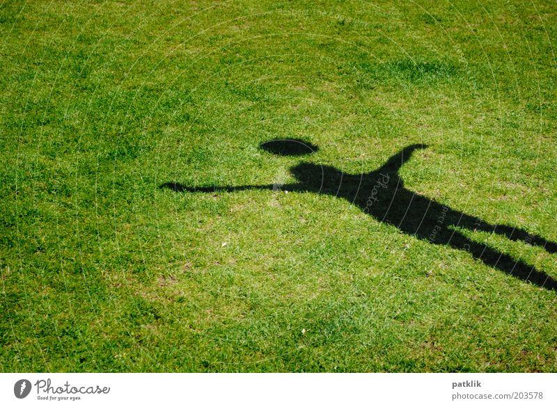 Adipöses Strichmännchen Mensch Kind grün schwarz Wiese Sport Junge Kindheit Fußball elegant ästhetisch einzigartig Rasen Ball sportlich Sport-Training