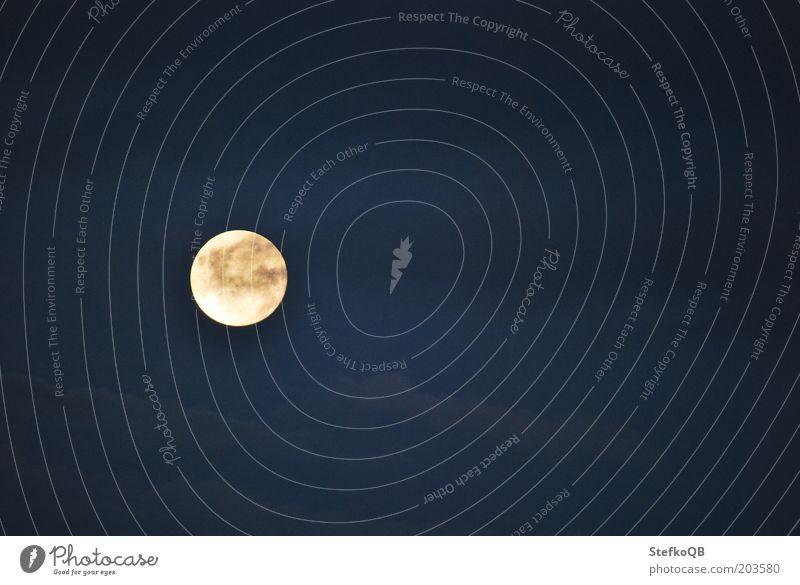 Hijo de la luna Himmel blau Sommer Wolken Umwelt Frieden Nachthimmel Mond Schönes Wetter Vorsicht Natur Wetter Vollmond nur Himmel