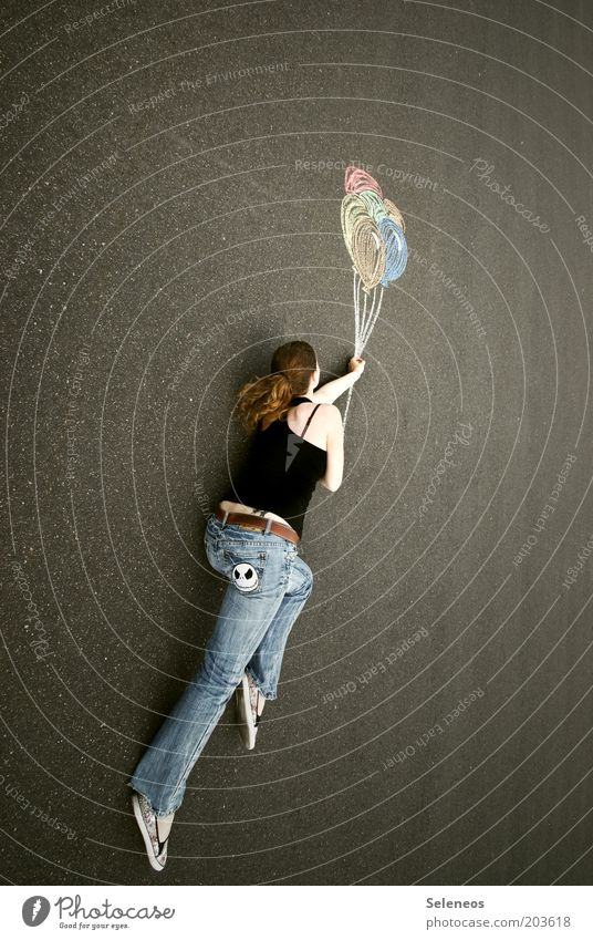 Traumweltreisende II Freizeit & Hobby Spielen Ausflug Abenteuer Ferne Freiheit Sommer Mensch Strassenmalerei Luft Himmel Straße Wege & Pfade Luftverkehr