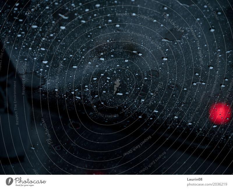 Rain in the Traffic / Raindrops on windshield ruhig Angeln Ferien & Urlaub & Reisen Ausflug Abenteuer Ferne Expedition Kunst Klima Wetter schlechtes Wetter