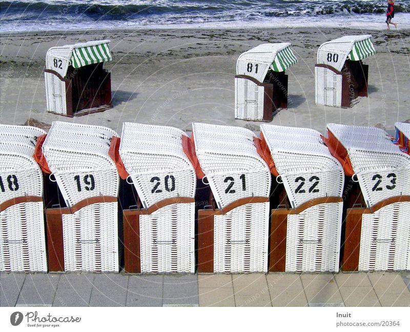 Strandkörbe Meer Ferien & Urlaub & Reisen Sand Küste Ziffern & Zahlen Ostsee 18 Korb 20 23 21 19