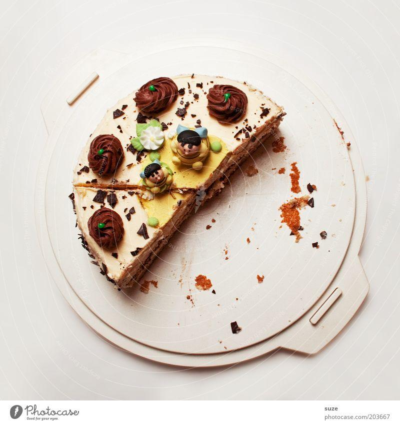 Halbzeit Kuchen Dessert Süßwaren Torte Tortenplatte Tortenstück Ernährung Feste & Feiern Geburtstag lecker gefräßig Hemmungslosigkeit Genusssucht Kalorie