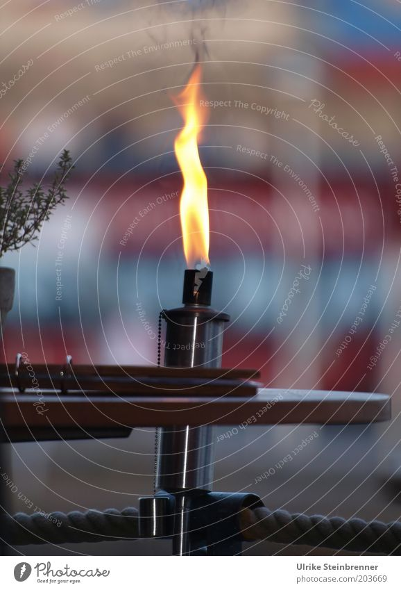 Leuchtfeuer (AST HH 5/10) gelb Wärme Metall Seil Feuer Tisch Dekoration & Verzierung Restaurant leuchten brennen gemütlich Flamme Gastronomie Gastwirtschaft