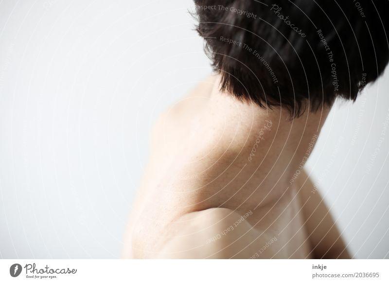 Nacken 3 schön Körperpflege Haut Gesundheit Frau Erwachsene Leben Haare & Frisuren Frauenhals 1 Mensch 30-45 Jahre 45-60 Jahre schwarzhaarig brünett kurzhaarig