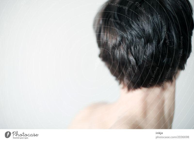Nacken 1 Mensch Frau schön Erwachsene Leben Gesundheit Haare & Frisuren hell modern 45-60 Jahre Haut brünett schwarzhaarig Hals kurzhaarig 30-45 Jahre
