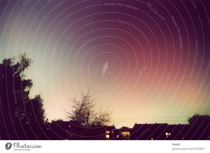 Polarlicht Himmel Farbe Münster Nachtaufnahme