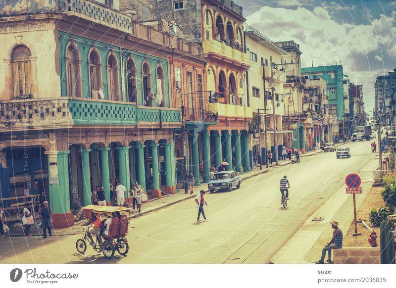 Viva Habana Lifestyle Zufriedenheit Ferien & Urlaub & Reisen Freiheit Städtereise Häusliches Leben Haus Kultur Stadt Hauptstadt Stadtzentrum Altstadt