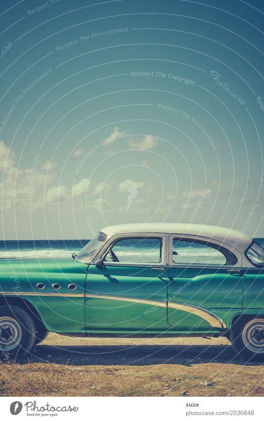 Mittelstand Lifestyle Reichtum Design Ferien & Urlaub & Reisen Sommer Sommerurlaub Strand Küste Meer Verkehrsmittel PKW Taxi Oldtimer alt außergewöhnlich