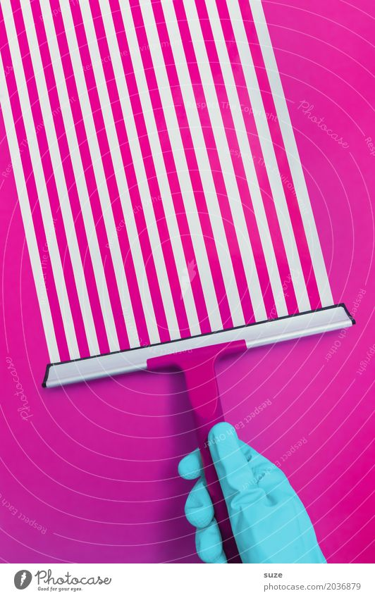 Streifzug blau Hand Lifestyle lustig Stil rosa Design Linie Arbeit & Erwerbstätigkeit Ordnung Kreativität verrückt Beginn Finger Idee Coolness