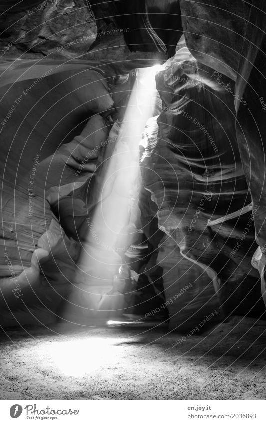 Licht aus... Natur Ferien & Urlaub & Reisen Landschaft Religion & Glaube Tod Sand Felsen leuchten USA fantastisch Energie Vergänglichkeit Hoffnung Urelemente