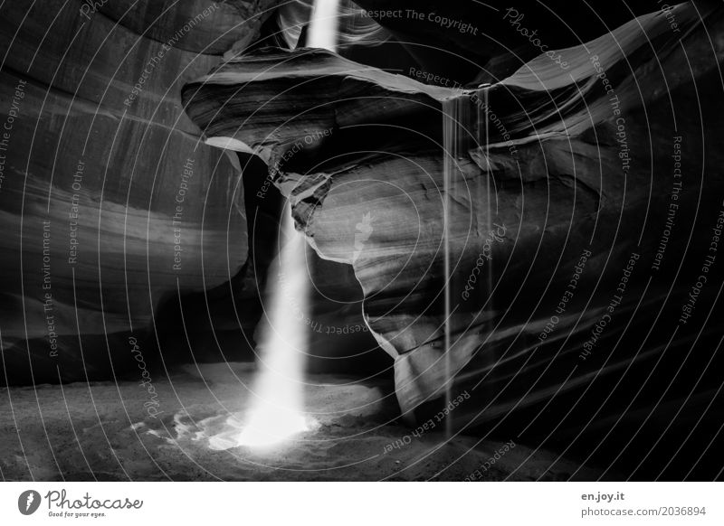 Zeit Ferien & Urlaub & Reisen Natur Landschaft Urelemente Sand Felsen Schlucht Antelope Canyon leuchten außergewöhnlich fantastisch Kraft Glaube bizarr Energie