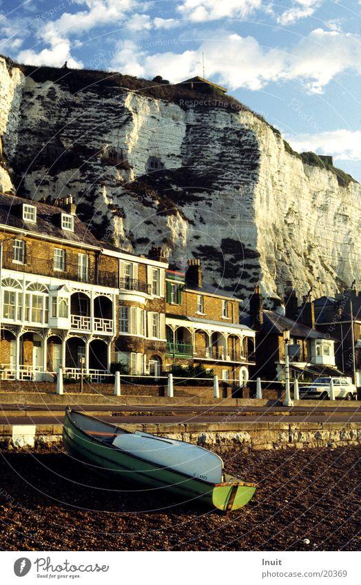 Dover England Meer Klippe Wasserfahrzeug Großbritannien Morgen