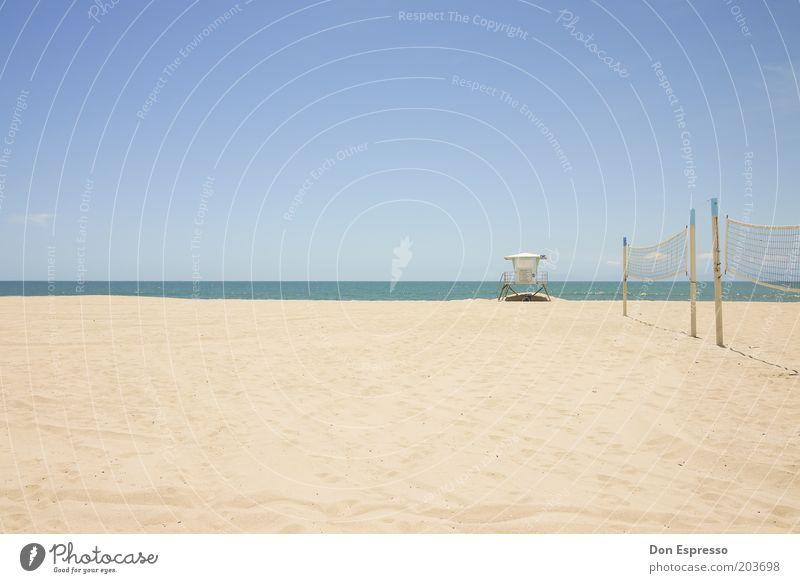 Life Is A Beach Freizeit & Hobby Ferien & Urlaub & Reisen Sommer Sommerurlaub Strand Meer Insel Sand Küste Erholung ästhetisch ruhig Volleyballnetz Kalifornien