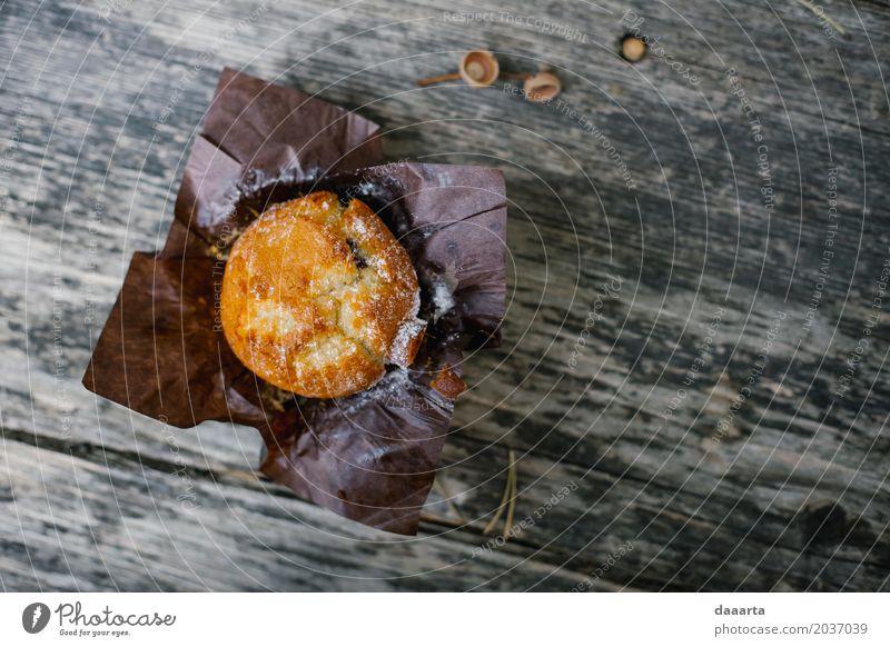 Herbstmuffin 2 Freude Leben Lifestyle Stil Lebensmittel Feste & Feiern Stimmung Design wild Häusliches Leben elegant Fröhlichkeit Tisch einfach Romantik