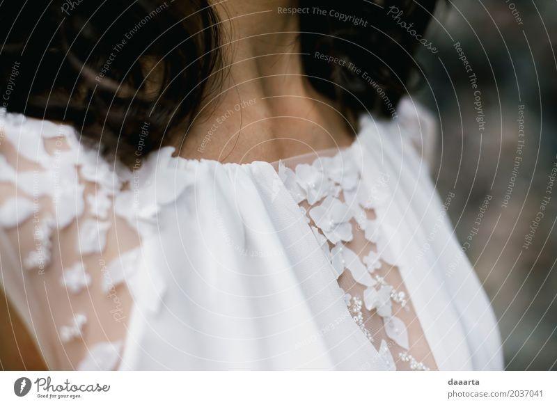 Braut Stimmung elegant Stil Leben harmonisch Freizeit & Hobby Abenteuer Freiheit Veranstaltung Feste & Feiern Flirten Hochzeit feminin Mode Kleid 3D Blumen