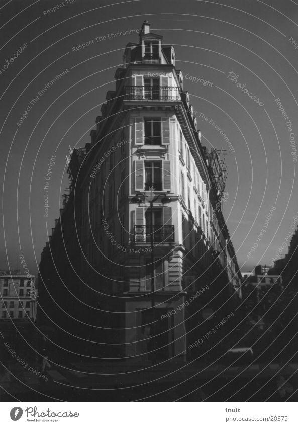 Wohnhaus Haus Architektur Häusliches Leben Spitze Paris Schwarzweißfoto
