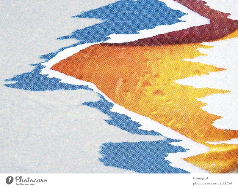 Time = Cause weiß blau rot gelb grau braun verrückt Papier ästhetisch Spitze trashig bizarr Printmedien Muster Strukturen & Formen abstrakt