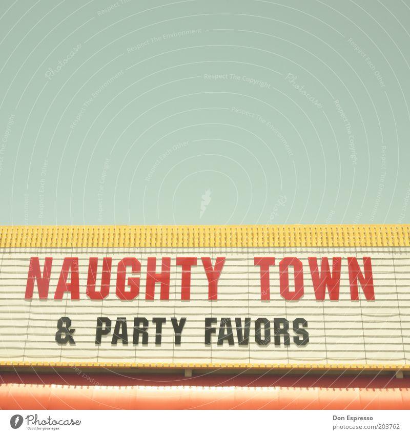 NAUGHTY TOWN Stadt Party Stil Design Schilder & Markierungen Schriftzeichen Dekoration & Verzierung Buchstaben Werbung Zeichen trashig Kino Anzeige Logo