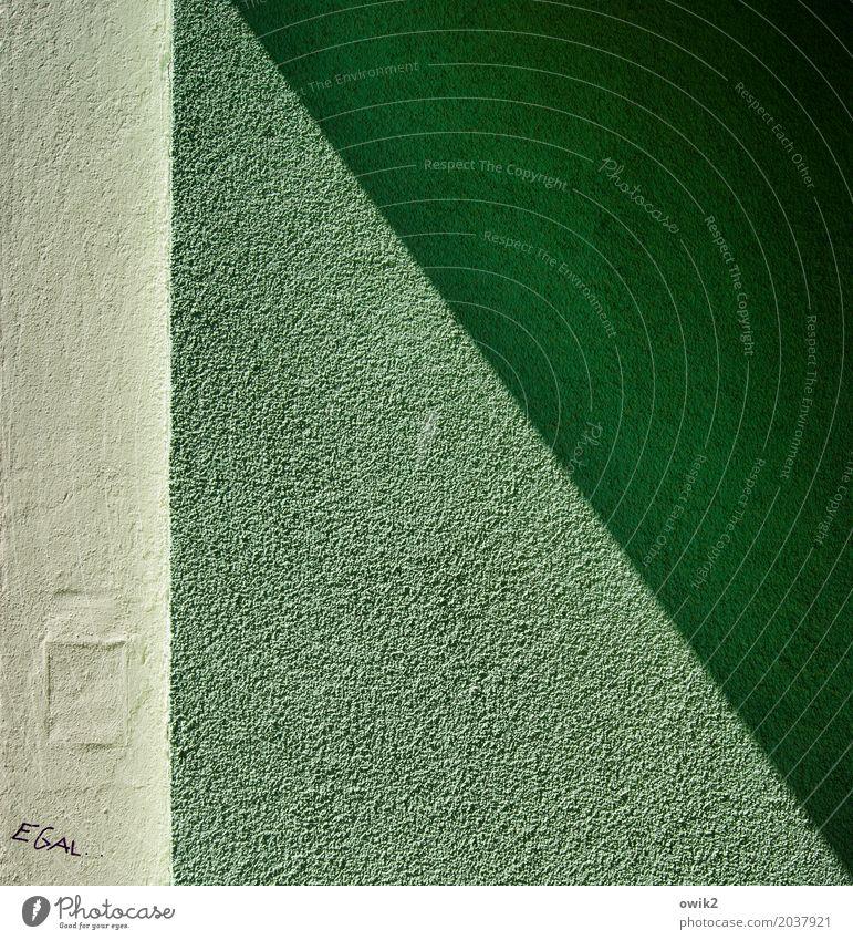 Resignation grün Wand Mauer Fassade Schriftzeichen Ecke Putz diagonal Frustration rau Enttäuschung Erfahrung Ärger Entschlossenheit Subkultur trotzig