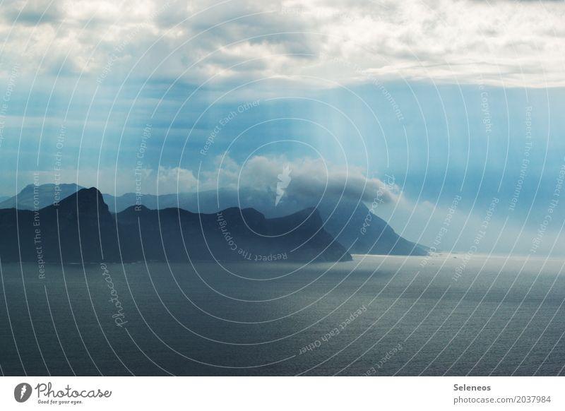 Fernweh Ferien & Urlaub & Reisen Tourismus Ausflug Abenteuer Ferne Freiheit Kreuzfahrt Strand Meer Insel Umwelt Natur Landschaft Wasser Himmel Wolken Horizont