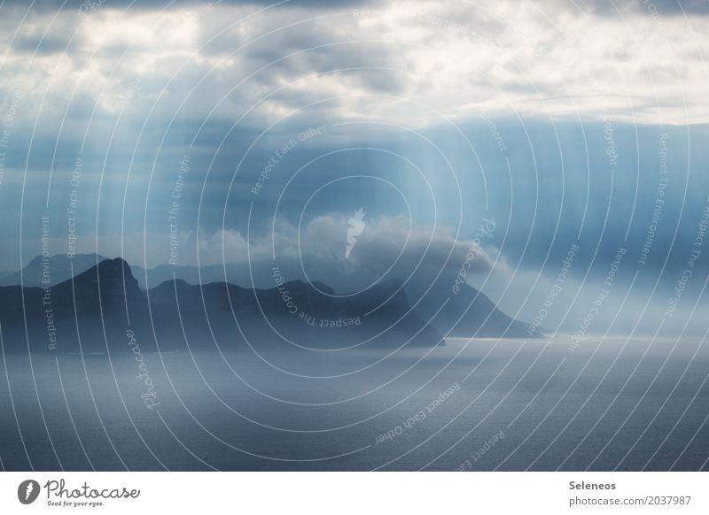 Blick in die False Bay Ferien & Urlaub & Reisen Tourismus Ausflug Abenteuer Ferne Freiheit Sightseeing Meer Insel Umwelt Natur Landschaft Wasser Himmel Wolken