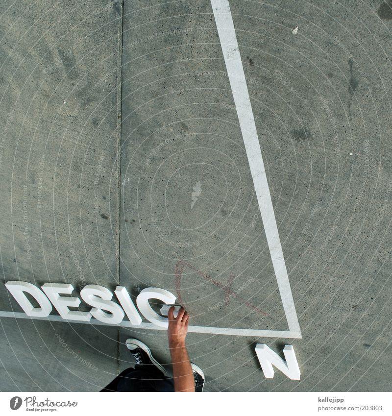 designstudium Mensch Mann Hand Stil Fuß Linie Beine Erwachsene maskulin Design Finger Lifestyle Studium lernen Schriftzeichen Bildung