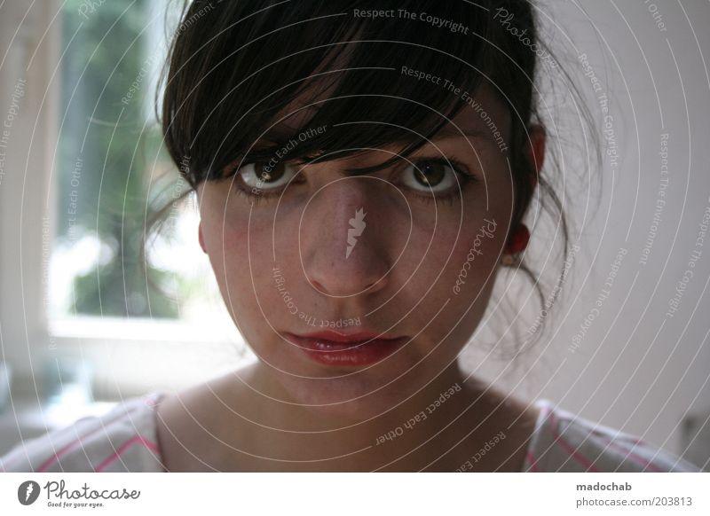 frau nachbarin Frau Jugendliche schön Gesicht Erwachsene Auge Leben feminin Stil elegant ästhetisch 18-30 Jahre Junge Frau geheimnisvoll nah Vertrauen