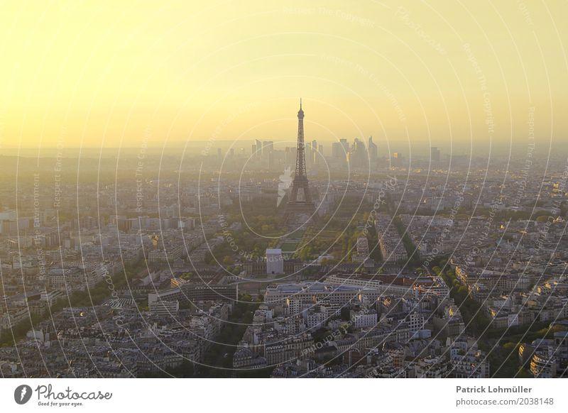 Stadtansicht Paris Ferien & Urlaub & Reisen Tourismus Sightseeing Städtereise Umwelt Wolkenloser Himmel Horizont Schönes Wetter Frankreich Europa Hauptstadt