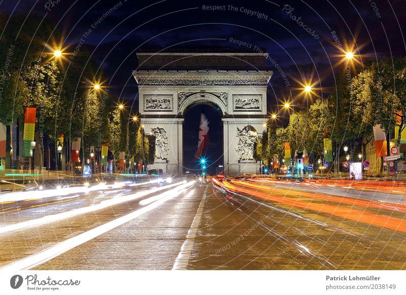 Avenue des Champs-Élysées Paris Ferien & Urlaub & Reisen Tourismus Sightseeing Städtereise Feierabend Architektur Umwelt Nachthimmel Baum Frankreich Europa