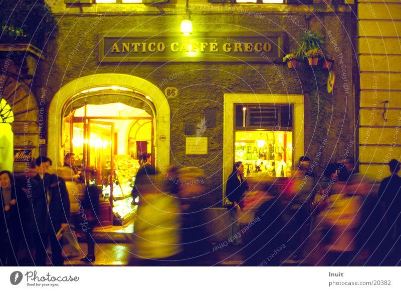Caffé Greco Italien Nachtleben Restaurant Café Europa Abend