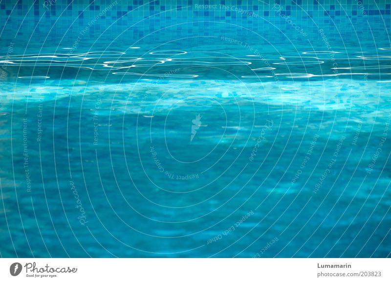 Blauverlauf Wasser schön blau Sommer Ferien & Urlaub & Reisen ruhig kalt Erholung hell glänzend Hintergrundbild frisch Wellness Tourismus Pause Schwimmbad