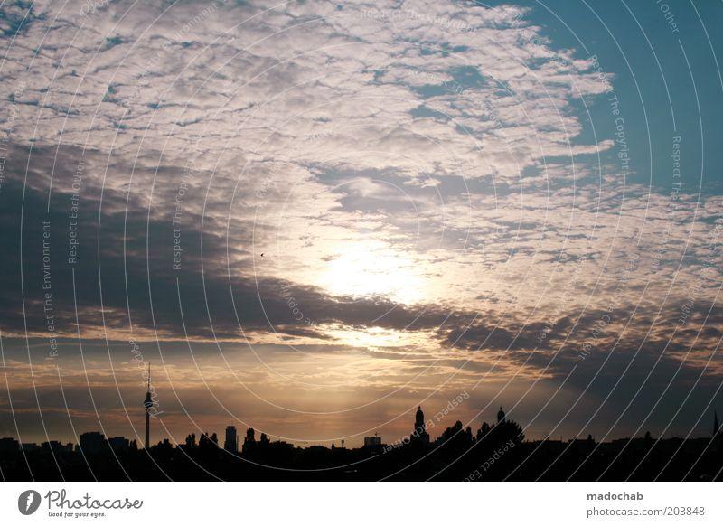 BERLIN, GERMANY Himmel Wolken Horizont Sonnenaufgang Sonnenuntergang Sonnenlicht Schönes Wetter Berlin Stadt Hauptstadt Stadtzentrum Skyline Sehenswürdigkeit
