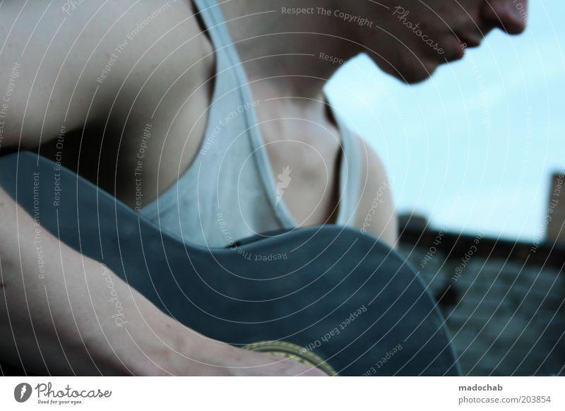soundcloud Jugendliche Einsamkeit Leben Gefühle Musik Zufriedenheit Freizeit & Hobby maskulin Lifestyle Dach Kommunizieren geheimnisvoll hören Leidenschaft