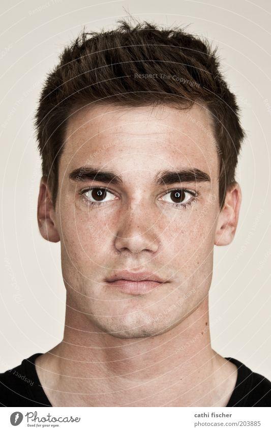 marcel Jugendliche schön schwarz Gesicht Erwachsene Auge Kopf Haare & Frisuren braun Haut Mund maskulin Nase Porträt 18-30 Jahre Ohr