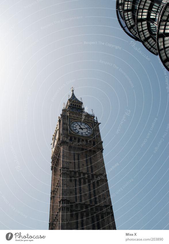 Big Ferien & Urlaub & Reisen Architektur Zeit groß Uhr Turm Bauwerk London Denkmal Wahrzeichen Stadtzentrum Sightseeing Hauptstadt Sehenswürdigkeit Blauer Himmel gigantisch