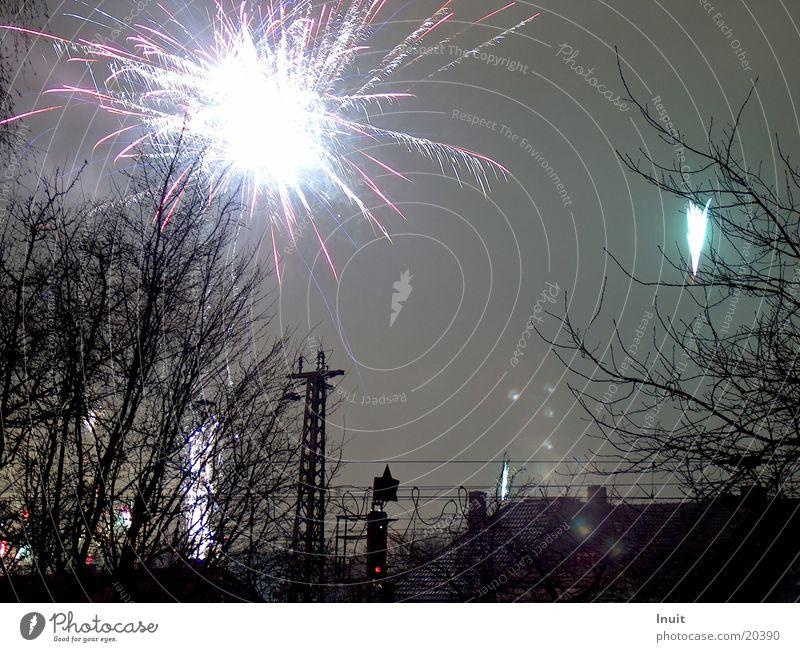 Feuerwerk 2 Silvester u. Neujahr Langzeitbelichtung Freizeit & Hobby Abend Feste & Feiern blau