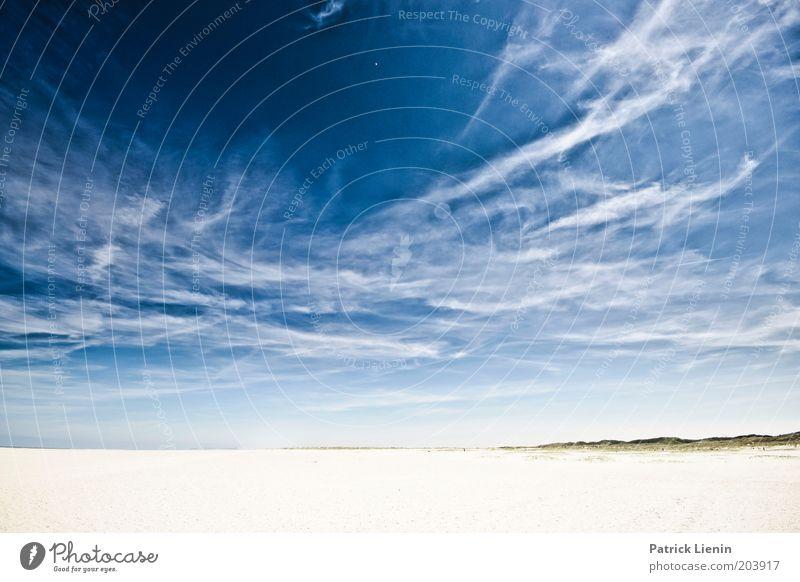 Welcome to Blue Skies Umwelt Natur Landschaft Urelemente Erde Sand Luft Wasser Himmel Wolken Klima Wetter Schönes Wetter Küste Strand Nordsee Meer Insel