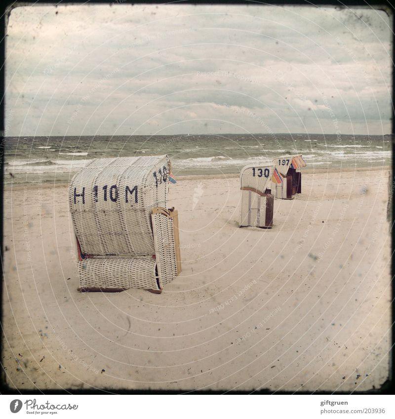 stormy sea Wasser Himmel Meer Strand Ferien & Urlaub & Reisen Wolken Ferne Herbst Sand Wellen Küste Wind Wetter Umwelt Horizont Tourismus
