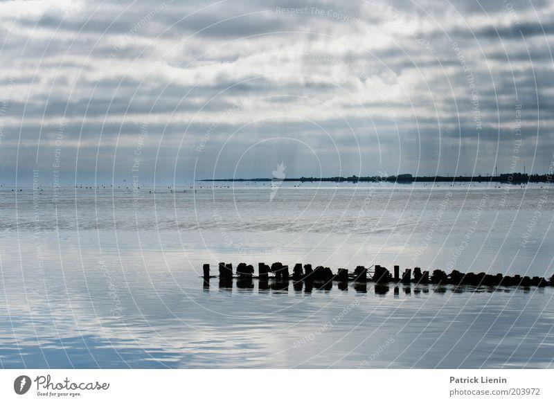 Überfahrt Wasser Himmel Meer Sommer Ferien & Urlaub & Reisen Wolken Ferne Luft Vogel Küste Wetter Horizont Klima Schutz genießen Nordsee