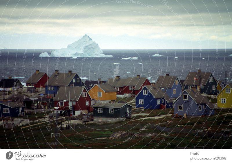 Nur ein Zehntel Ferne Eis Dänemark Eisberg Skandinavien Holzhaus Grönland Arktis